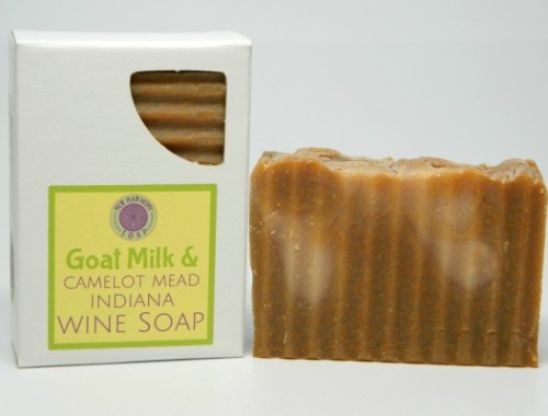 all natural soap made with goat milk and Camelot Mead Honey Wine