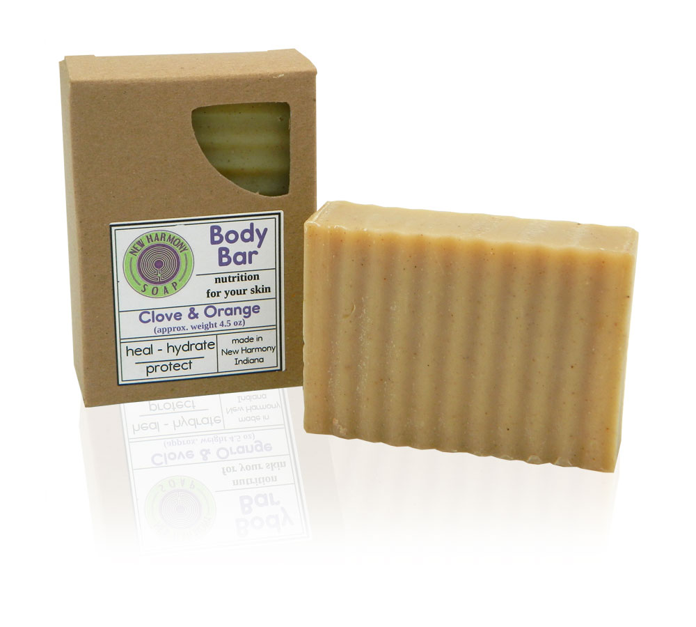 All natural clove orange soap bar