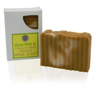 Natural goat milk and honey mead wine soap bar