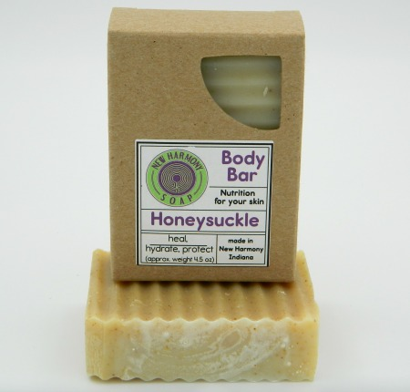 natural soap, handcrafted, honeysuckle