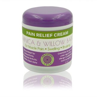 All natural anica and willow bark pain relief cream