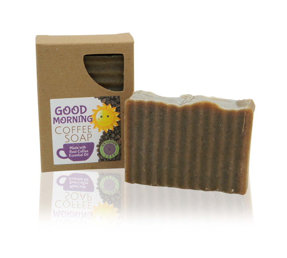 All natural Good Morning coffee soap bar